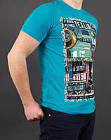 Мужская футболка с красивым принтом