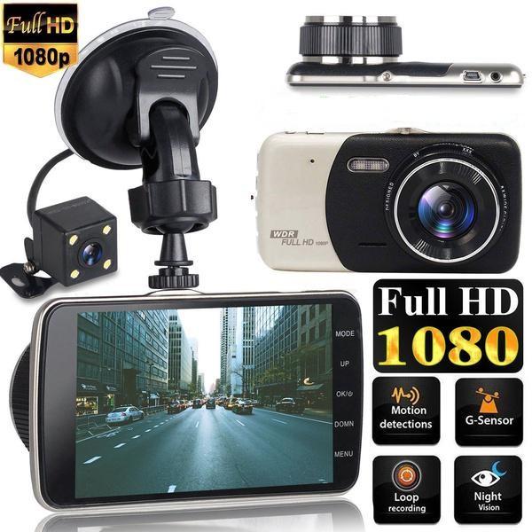 Автомобильный видеорегистратор Full HD 1080p 2 камеры авто регистатор