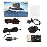 Автомобильный видеорегистратор Full HD 1080p 2 камеры авто регистатор, фото 8