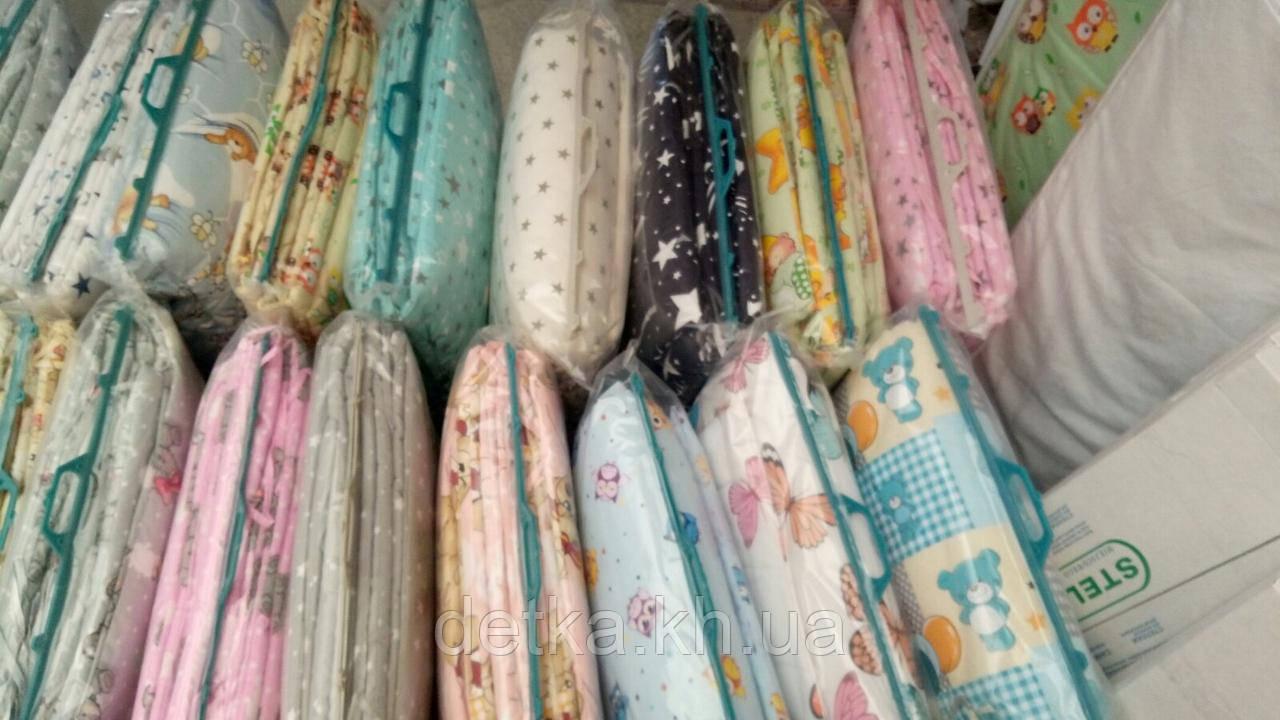 Набор детского постельного белья с бортиками в кроватку/манеж