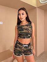 Спортивні жіночі шорти камуфляж, фото 1