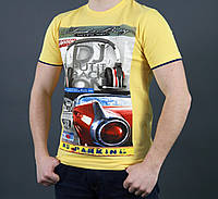 Летняя мужская футболка с круглым вырезом