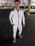 Спортивный костюм - Мужской спортивный костюм белый  / чоловічий спортивний костюм білий з чорними лампасами, фото 5