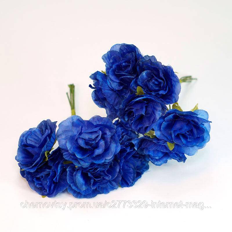 Цвіт яблуні з тканини уп. 72 шт. Блакитний