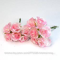 Еустома з тканини, уп. 60 шт. Рожева