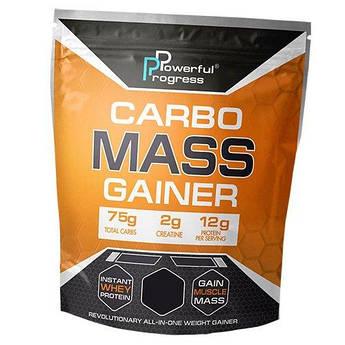 Купити для набору маси Powerful Progress Carbo Mass Gainer 4000 грам Чорничний чізкейк
