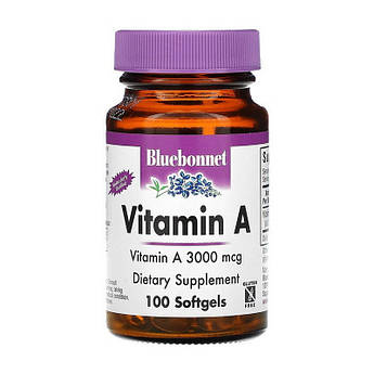 Витамин А Bluebonnet Nutrition Vitamin A 3000 mcg 100 капсул