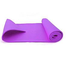 Килимок для йоги товщина 4 мм Profi MS 1846-2-2 фіолетовий