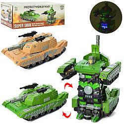 Трансформер 3498-1  31см, робот+танк, звук(англ),свет,2цвета,на бат-ке,в кор-ке,30,5-16-11,5см