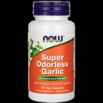 Экстракт чеснока Now Foods Super Odorless Garlic 90 капсул