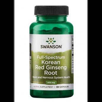 Женьшень Swanson Korean Red Ginseng Root 400 mg 90 капсул