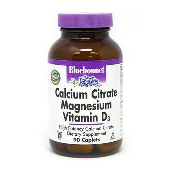 Кальцій магній + д3 Bluebonnet Nutrition Calcium Citrate Magnesium Vitamin D3 90 капсул