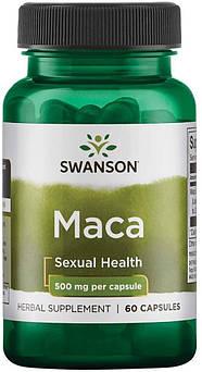 Екстракт MACA Swanson Maca 500 mg full spectrum 60 капсул