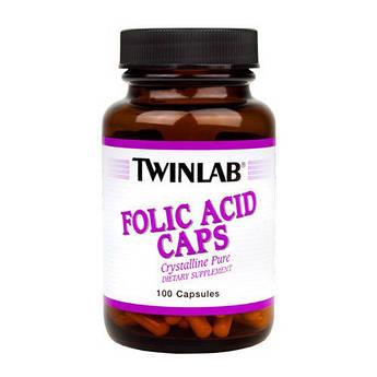 Фолієва кислота Twinlab Folic Acid Caps (100 кап) твинлаб