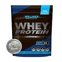 Сывороточный протеин концентрат Willmax Whey Protein 65 (1 кг) вилмакс вей без смаку
