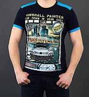 Мужская футболка с яркими кантиками