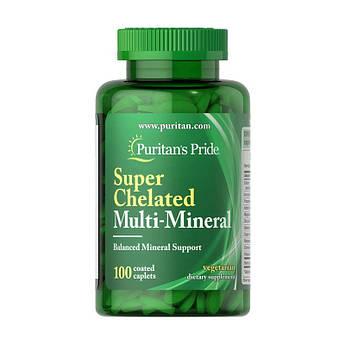 Мінеральний комплекс Puritan's Pride Super Chelated Multi-Mineral 100 капсул