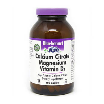 Кальцій магній + д3 комплекс Bluebonnet Nutrition Calcium Citrate Magnesium Vitamin D3 180 капсул