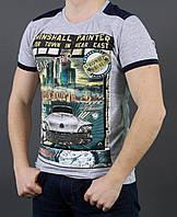 Мужская футболка с абстрактным принтом