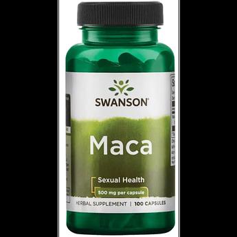 Екстракт MACA Swanson Maca 500 mg 100 капсул