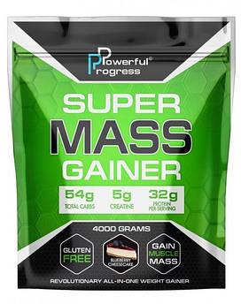 Купити для набору маси Powerful Progress Super Mass Gainer 4000 грам Чорничний чізкейк