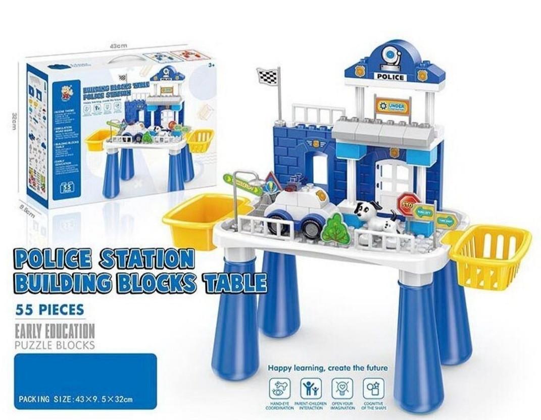 """Игровой столик """"Police Station"""" Полицейская станция, 55 деталей"""