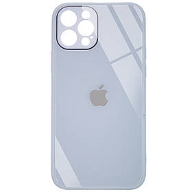 "TPU+Glass чохол GLOSSY Logo Full camera (opp) для Apple iPhone 12 Pro (6.1"")"