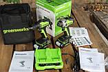 Комплект бесщёточных инструментов Greenworks 24 V дрель-шуруповёрт и ударный винтовёрт с АКБ 2х2 Ач и  ЗУ, фото 2