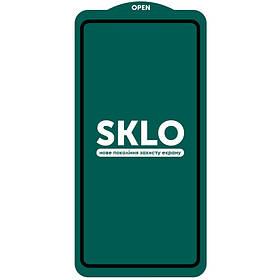 Захисне скло SKLO 5D (full glue) (тех. пак) для Realme 7 Pro