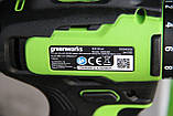 Комплект бесщёточных инструментов Greenworks 24 V дрель-шуруповёрт и ударный винтовёрт с АКБ 2х2 Ач и  ЗУ, фото 4