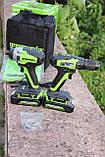 Комплект безщіткових інструментів Greenworks 24 V дриль-шуруповерт і ударний гвинтоверт з АКБ 2х2 Ач і ЗУ, фото 6