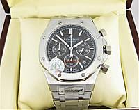 Часы Audemars Piguet Royal Oak Offshore 41mm Chronograph. Silver/Black. Реплика: ELITE.