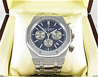 Часы Audemars Piguet Royal Oak Offshore 41mm Chronograph. Silver/Blue. Реплика: ELITE.