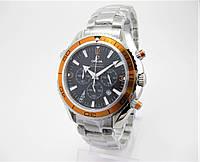 Годинник Omega Seamaster Professional Chronograph 007 43mm Silver/Black/Orange. Репліка: AAA., фото 1