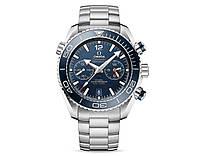 Часы Часы Omega Seamaster PLANET OCEAN 600M 45mm Chronograph Silver/Blue. Реплика: Elite., фото 1