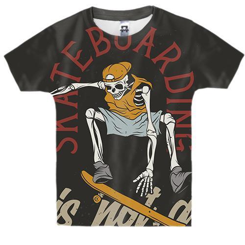 Дитяча 3D футболка Skateboarding is not a crime