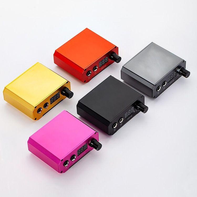 Блок живлення для тату машин з електронним індикатором рожевий