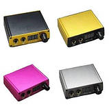Блок живлення для тату машин з електронним індикатором рожевий, фото 2