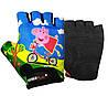 Велорукавички PowerPlay 5473 Peppa Pig голубі XS