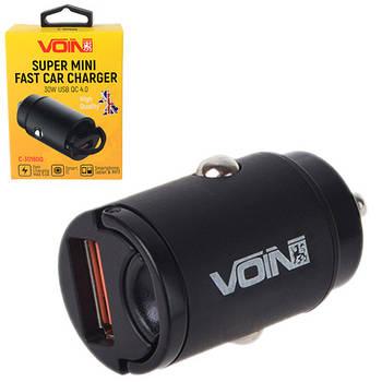 Автомобильное зарядное устройство VOIN 30W, 1USB QC4.0 12/24V (4.5V*5A, 5V*4.5A, 9V*3A,12V*2.5A) (C-30160Q)