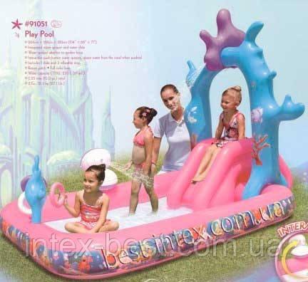Детский надувной игровой центр Bestway 91051 (264х168х180 см.)