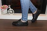 Туфли женские черные натуральная кожа Т1141, фото 4