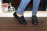 Туфли женские черные натуральная кожа Т1141, фото 5