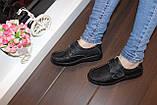 Туфли женские черные натуральная кожа Т1141, фото 6