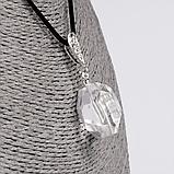 Горный хрусталь кулон серебро, 1613КЛГ, фото 2