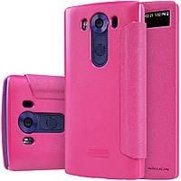 Кожаный чехол Nillkin Sparkle для LG V10 розовый, фото 1