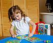 Конструктори, пазли, мозаїка - оптом - ZB2002-р - Яскрава і безпечна дитяча гра дерев'яна Мозаїка з, фото 3