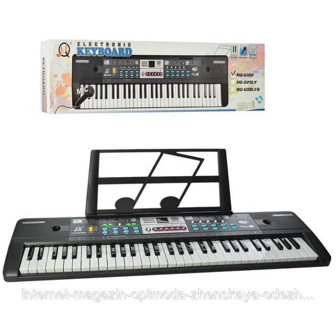 Детские музыкальные инструменты -  оптом - MQ6182-р - Детский музыкальный синтезатор пианино с микрофоном и