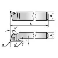 Резец подрезной отогнутый 0005 (25х16х140) ВК8