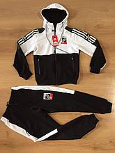 Спортивний костюм комбінований ADiDAS replik юніор школа хлопчик 12-16 років купити опт зі складу 7км Одеса